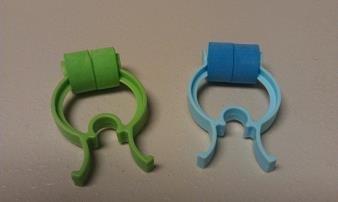 Noseclips - Foam Padded - BiotronicsBiz Noseclipz - Bag of 100 (Blue/Green)