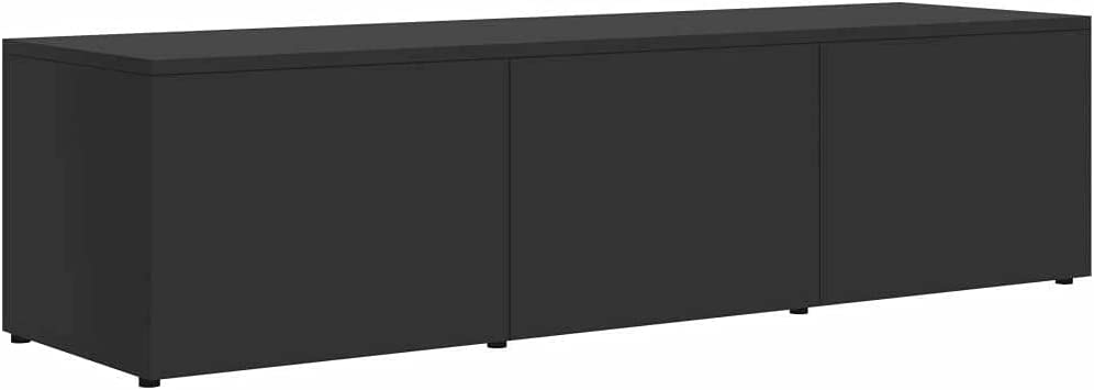 TV Cabinet Gray Chipboard Media Storage Stand Home Furniture Tv Stand Farmhouse Decor Tv Mount Television Stands Tv Stands Tv Table Apartment Essentials Living Room Furniture Tv & Media Furniture