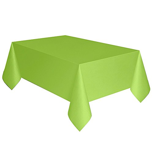 Unique Industries Plastic Tablecloth - 12 Pack (Neon Green, 108