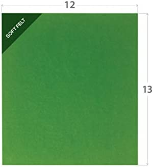 Lil Nugget Educational Felts Felt Board - Soft and Durable 5mm-Thick Multipurpose Sheet - Creative Storytelling for Classroom and Home School Learning Office Arts and Crafts - 12x13 Inches Green