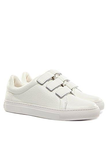 Rachel Zoe Kvinna Boe Kardborrband Sneakers Vit Nappa Croc Relief