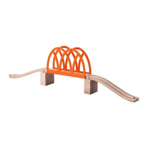 5-piece Train Bridge Set with Wood Tracks LILLABO by IKEA 5 Piece Train Set