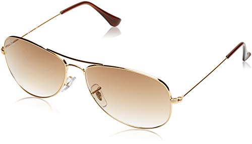 - Ray-Ban RB3362 Cockpit Aviator Sunglasses, Gold/Brown Gradient, 59 mm