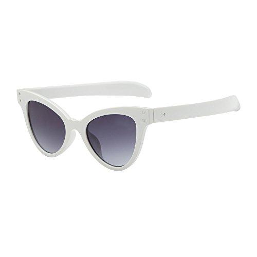 [해외]Frames Hergoto Fashion Retro Vintage Cat Eye UniSunglasses Rapper Grunge Glasses Eyewear(WH) / Frames Hergoto Fashion Retro Vintage Cat Eye UniSunglasses Rapper Grunge Glasses Eyewear(WH)