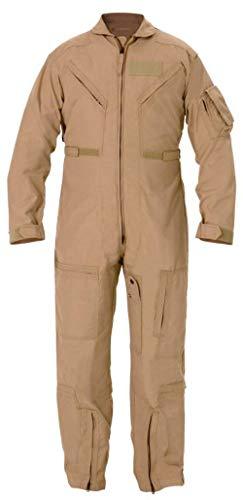 Authentic US Military Flyers Desert Tan Flight Suit CWU-27/P NOMEX size 44S NEW