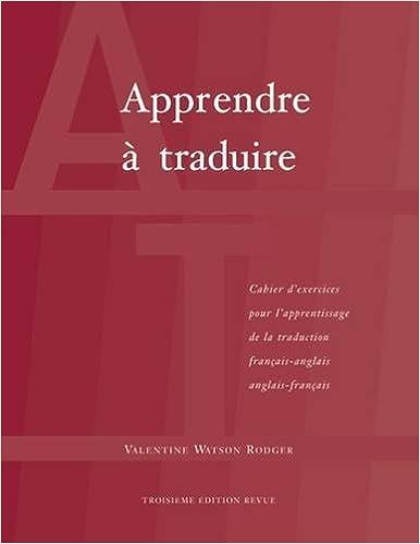 Amazon Fr Apprendre A Traduire Cahier D Exercices Pour L
