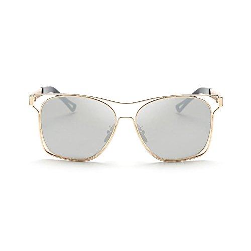 Pierced Charm 10k Basketball - Double FNT Retro Fashion Pierced Metal Frame Colored Lens Driving Outdoor Sunglasses
