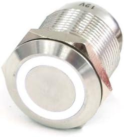 Phobya / PULSADOR del timbre de 16 mm de acero inoxidable, anillo blanco de 5 pinos de Iluminación