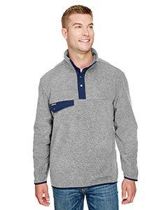 - DRI Duck Denali Mélange Mountain Fleece Pullover - Platinum - 4XL