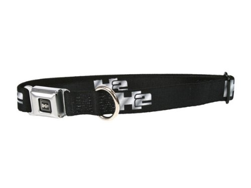 Hummer H2 Seatbelt Buckle Dog Collar - Large (15-26 inch - H2 Hummer Seat Belt