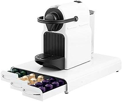 Top Shop Kitchen Cook - Soporte para cápsulas Nespresso de 60 plazas con 3 cajones, 27 x 5,5 x 37 cm, color blanco, estilo moderno: Amazon.es: Hogar