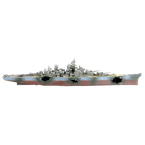 Underwater Treasures 65254 Cruiser Warship Aquarium Ornament