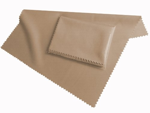 HighTech microfiber display cleaning cloth beige - washable (20cm x 19cm) - microfibre for Smartphone, eBook Readers, Tablet PC, glasses FairPrices
