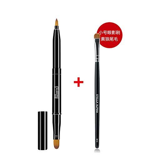 HUAZHUANGT Pincel para Labios Pincel para Labios Pincel de Metal Telescópico portátil Maquillaje para Principiantes Pincel para Labios Pintalabios Lápiz ...