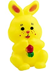 لعبة مطاطية على شكل ارنب للاطفال من لا فروتا - اصفر
