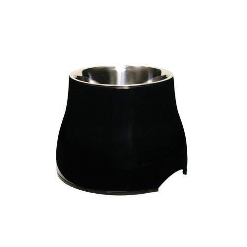 Dogit Elevated Dish, Black, Small