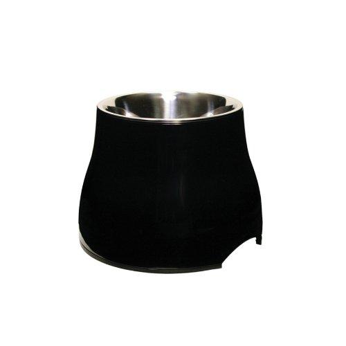 (Dogit Elevated Dish, Black,)