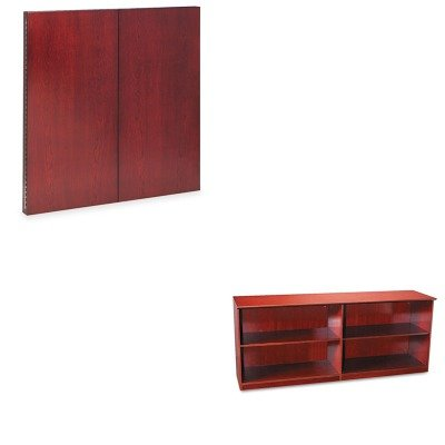 KITMLNCTMBCRYMLNVLCCCRY - Value Kit - Mayline Veneer Low Wall Cabinet without Doors (MLNVLCCCRY) and Mayline Corsica Series Veneer Dry Erase Presentation Board (Corsica Low Wall Cabinet)