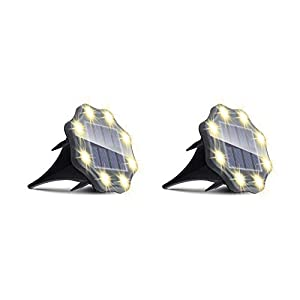 Luci Solari Giardino, JESLED 8 LED Luce Sepolta Solare, Luci Solari Da Esterno, Batteria Da 900mAh, IP67 Impermeabile… 31DVuYnWN4L. SS300
