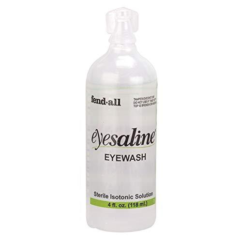 Honeywell Personal 1 oz. (30 ml) Sterile Saline Eye Wash Bottles, Trilingual (48-Pack)