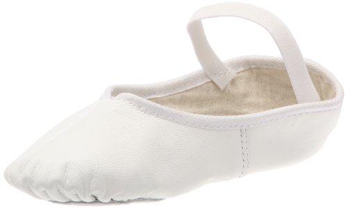 Dancin Cuero de Soft Bailarinas Blanco Mujer White Toe 1w14qrP