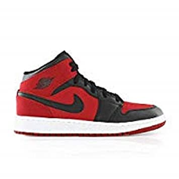 Nike Air Jordan 1 Mid Bg, Boys' Basketball Shoes, Red (Gym Red/Black ...