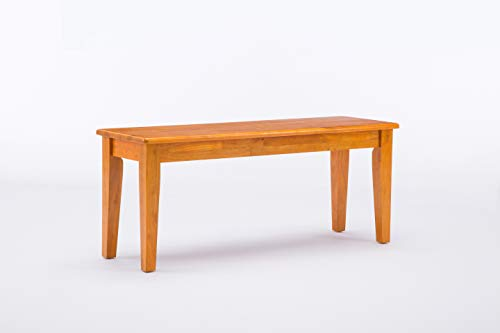 (Boraam 36136 Shaker Bench, Oak)