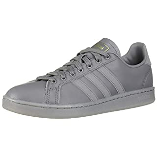 adidas Men's Grand Court Sneaker, Grey/Matte Gold, 7 M US