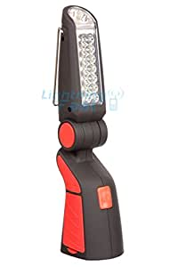 Cordless LED Work Light - Centre Bends, Clip To Hang, Magnets To Stick - Clearly See The Task You Need To Complete: Shines Bright To Save You Time - Red - 2 Year Guarantee