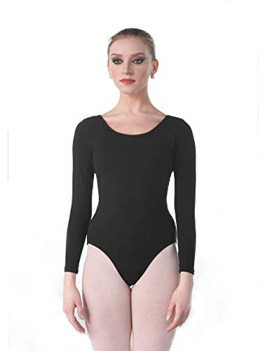 - Dance Favourite Leotards for Women's and Girls' Gymnastics Long Sleeve AM01D0090 (L, Black)
