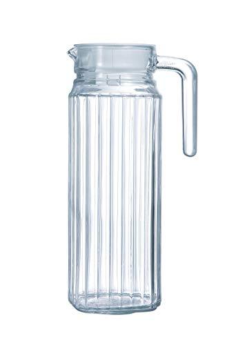 Arcoroc Quadro fridge jug with lid, 1L. (1 Liter Glass Pitcher With Lid)
