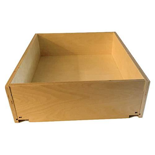 Luxotech Custom Drawer Box - Designed for Blum Tandem Drawer Slides - Baltic Birch Plywood UV Pre Finish - for Face Frame Or Frameless Cabinet - Assembled ()