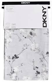 Panels Neutral Floral Pattern on Gray DKNY Pair of Extra Long Window Rod Pocket Panels Curtains Drapery Set of 2, Taupe, White and Gray on Gray Background-- Wallflower -- 50 - Shades Dkny