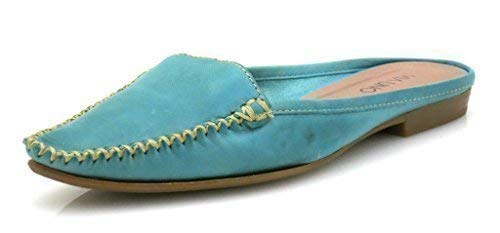 pelle Scarpe in lederpantolette cuoio VIA Mocassini UNO Turchese Pantofole di 2957 Pantofola pelle R6TRavqcwx