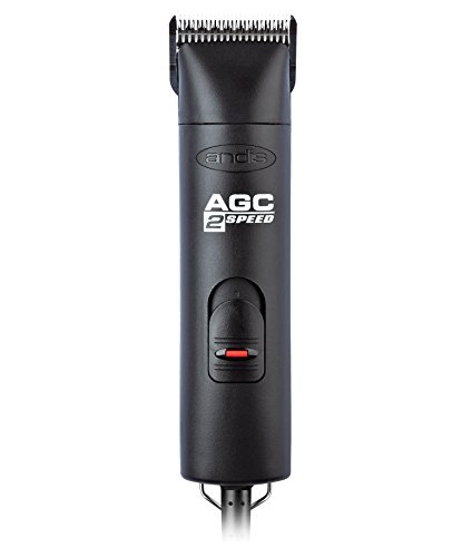 (Andis ProClip 2-Speed Detachable Blade Clipper, Professional Animal Grooming, AGC2, Black)