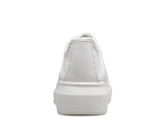 White Womens Light Walking Shoes Weight Ladola Urethane 8aBqw6