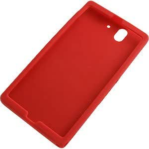 Silicone Skin Cover for Sony Xperia Z, Red