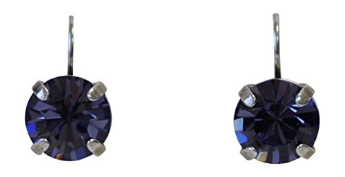 Mariana Purple Rain Swarovski Crystal Drop Earrings ()
