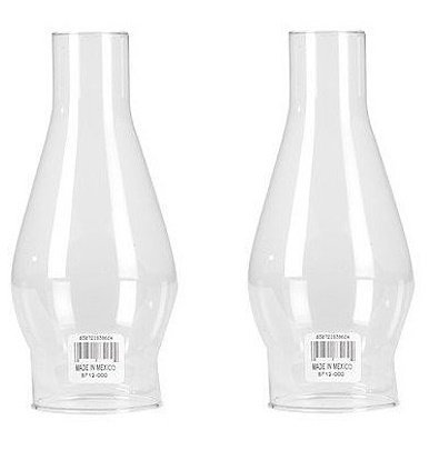 Clear Hurricane Lamp - WESTINGHOUSE LIGHTING 83062 Clear Fix Shade, 7-1/2-Inch - 2 Pack