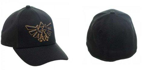 Zelda Nintendo Logo Black Flex Cap Hat