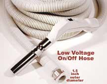 30ft Central Vacuum Low Voltage On/Off Hose