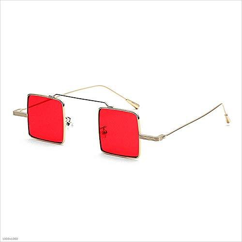 Femmes Silver Soleil Petites Joo pour à carrées Lunettes Red lentilles de Couleur 8wq4Wvwt