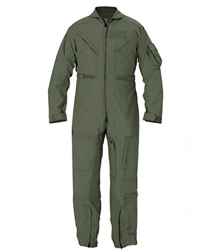 Military Outdoor Clothing Previously Issued CWU-27/P Sage Nomex Flight Suits (44L)