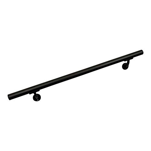 Aluminum Handrail Direct CHR 5' Handrail Section with mounts - Black Fine Texture by Aluminum Handrail Direct