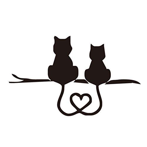 (Kstare 3D Car Body Sticker/Decal - Funny Cat Rear Windshield Window Vinyl Graphics Decals (Black))
