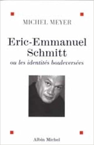 Amazon Fr Eric Emmanuel Schmitt Ou Les Identites