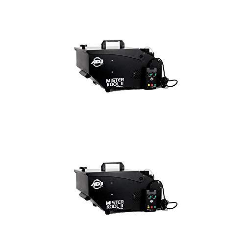 American DJ Mister Kool II Wired Low Lying Water Smoke Fog Machine w/Remote (2 Pack) ()