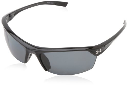 UA Zone 2.0 Storm Black w/Black RubberGray Polarized Lens