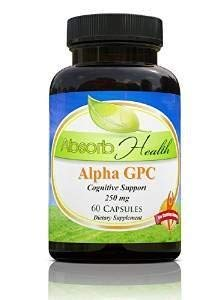 Alpha GPC | 300mg 60 Capsules | Powerful Cognitive Enhancer | Raises Brain Choline Levels the Most of Any Choline Supplement by Absorb Health
