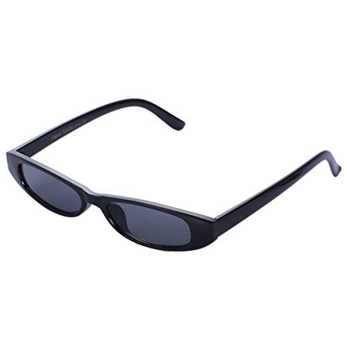 de de de de antiguas Negro sol UV400 Mujeres vintage nuevas Gafas Leopard lujo sol sol Gafas ojo Gafas gato pequenas ovaladas de Gafas de TOOGOO HY75waqH